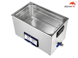 SUS304 Benchtop Ultrasonic Cleaner 600 Watt 30L For Stamping Oil / Finstock / Wax